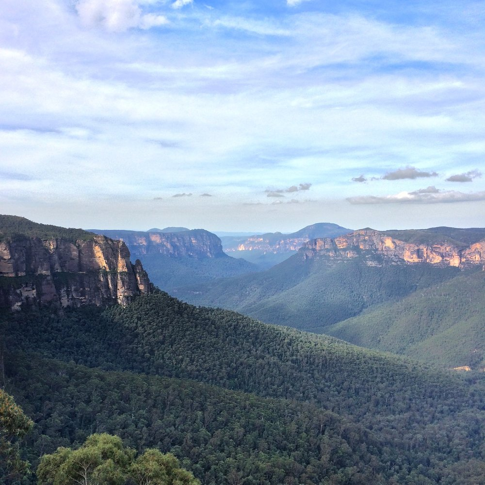 Looking out over the Blue Mountains