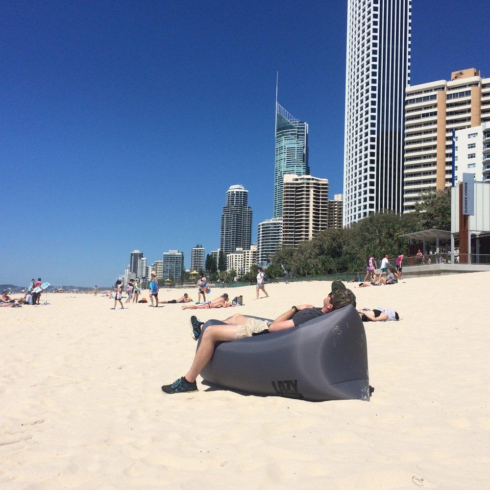 Lazy Rhino on the Beach