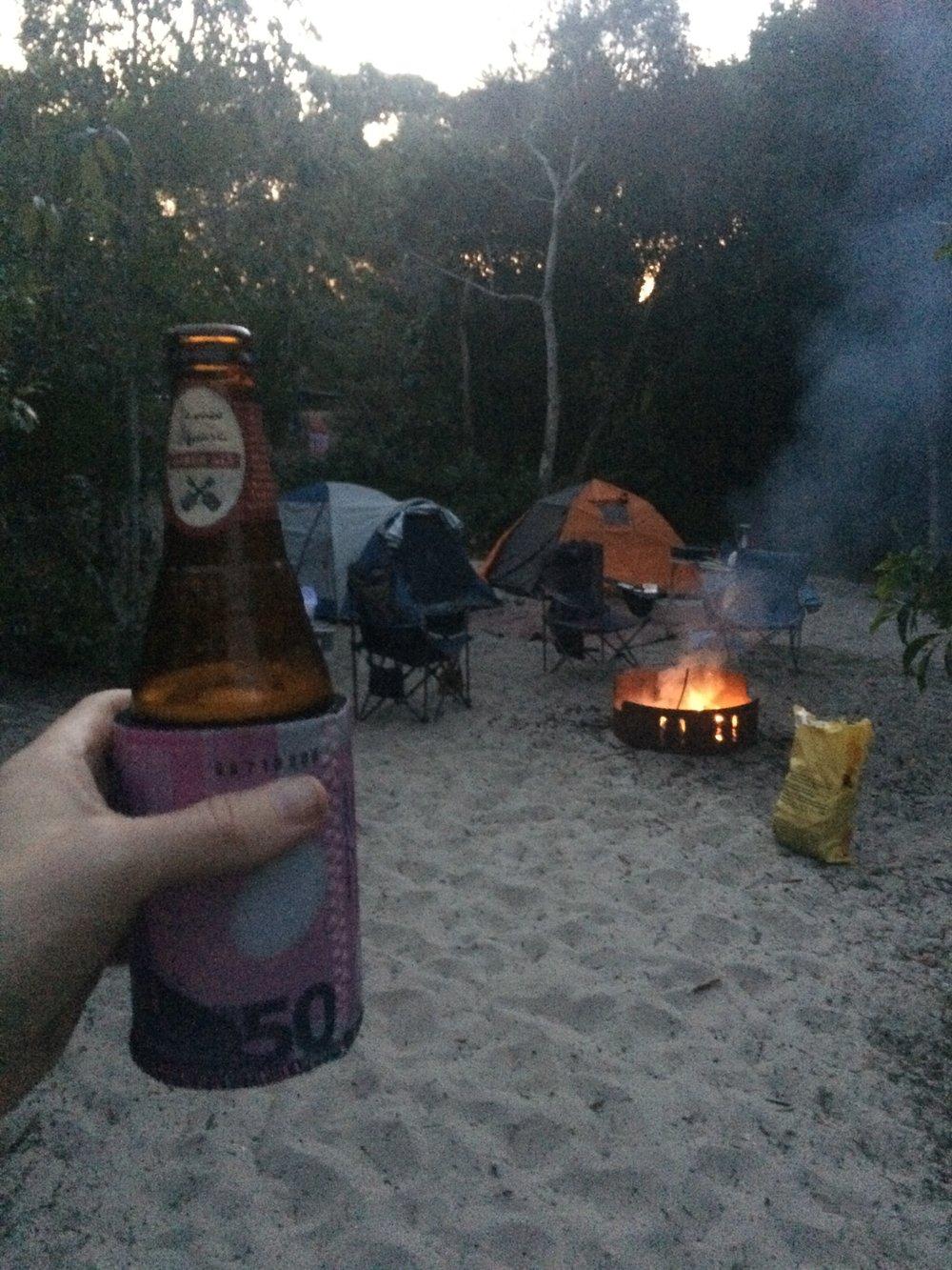 Bush Camping w/ Fire