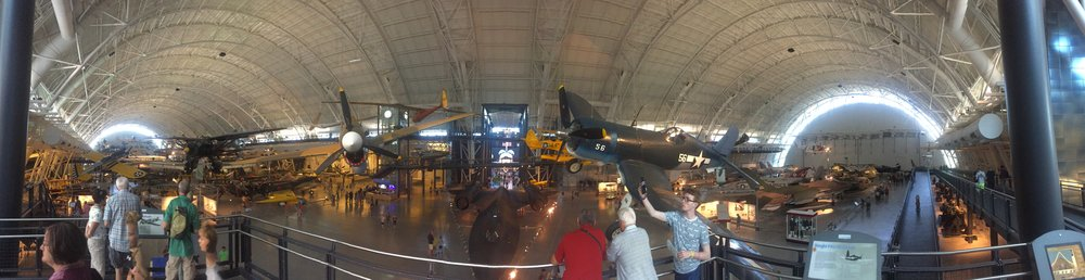 Panorama of the Smithsonian Air and Space Museum's Steven F. Udvar-Hazy Center at Dulles.