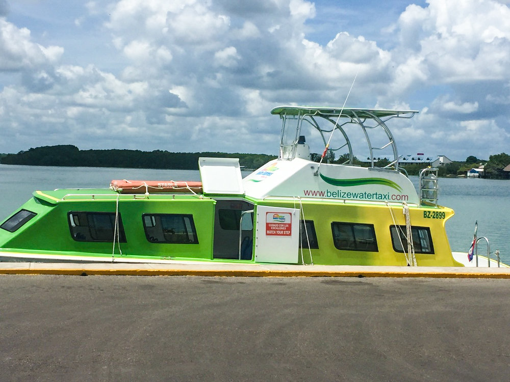 """""""Belize Water Taxi"""" to Caye Caulker"""