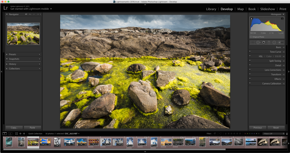 Kurs i Adobe Photoshop Lightroom. ©Bjørn Joachimsen.