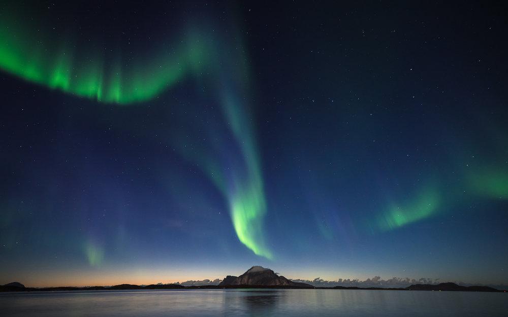Nordlysfotoworkshop på Bolga, Helgeland. ©Bjørn Joachimsen.