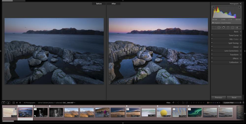 Videregående i Adobe Lightroom Classic CC Tromsø. ©Bjørn Joachimsen.