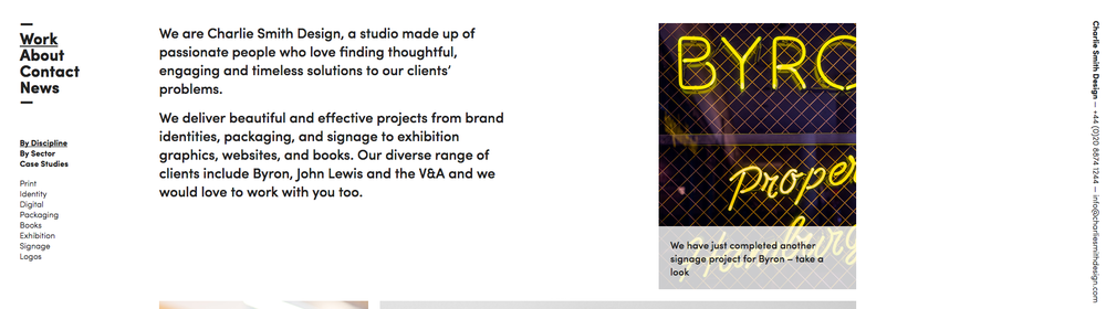 Website design by Charlie Smith Design