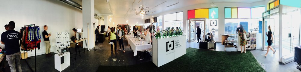 The Cape Crafts and Design Institute in Cape Town South Africa, is an exceptional organization involved in the development of the crafts and design sector of the Western Cape.  Their popular pop-up shop in the East City is provides a valuable space for emerging designers and product makers to display and sell their products, network with other design entrepreneurs and meet local buyers.  The shop is based in the building housing their headquarter and key educational facilities.  The East City itself has a range of development initiatives, emerging creative industry businesses and social entrepreneurs. .