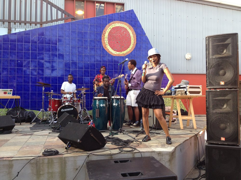 performance in Langa, Cape Town