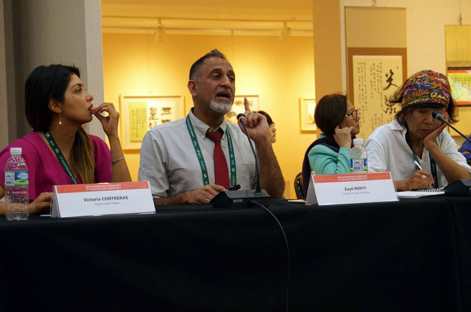 Zayd Minty of Creative City South presents at the UCLG Culture Summit