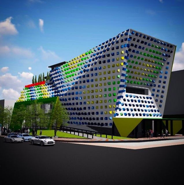 An architects representation of the new design centre