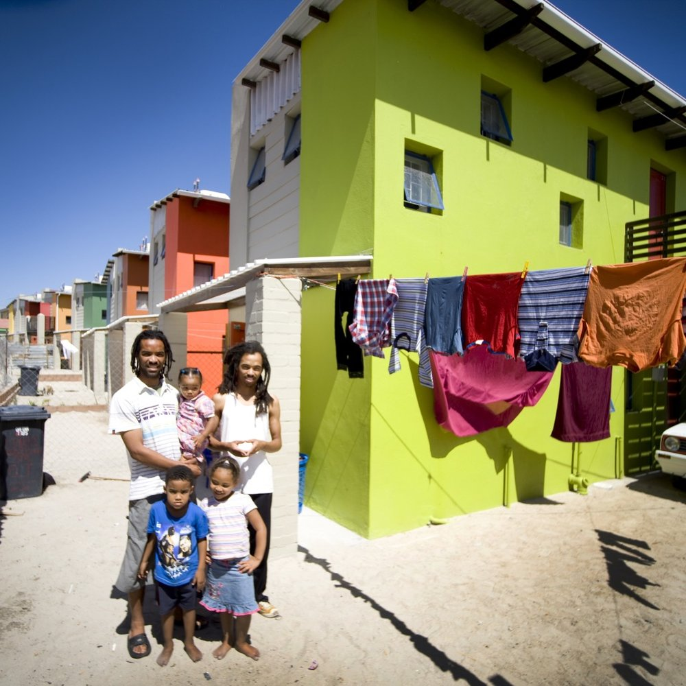 Low Cost Housing in Cape Town, designed by Luyanda Mphalwa. Photo by Guto Bussab