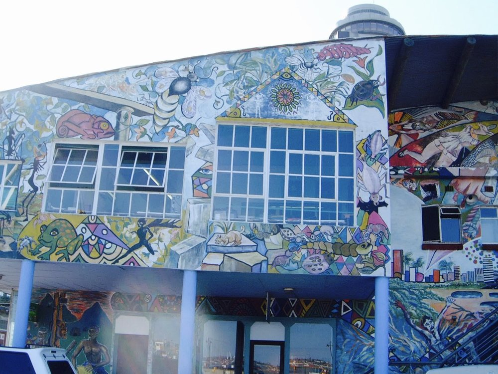 The non profit  BAT Arts Centr e in Durban established in 1995 continues much of the good work of the CAW.  Photo taken in 2004