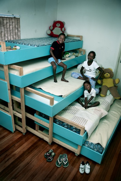 Architect Tsai's Nested Bed design for an orphanage