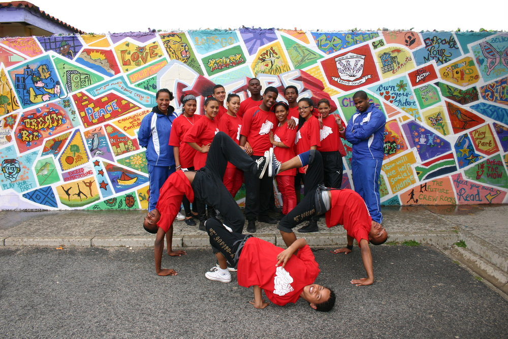 Dance troupe at the Lavender Hill Mod Centre.  Pic courtesy the Western Cape Government