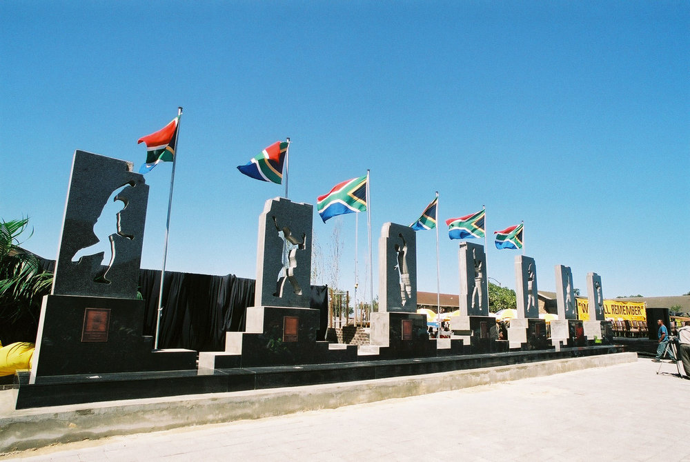 The Guguletu Seven Memorial designed by Donovan Ward.  Photo by Bruce Sutherland