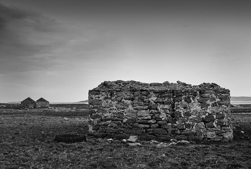 Ruined croft, Smercleit. Mark Farrington 2016.