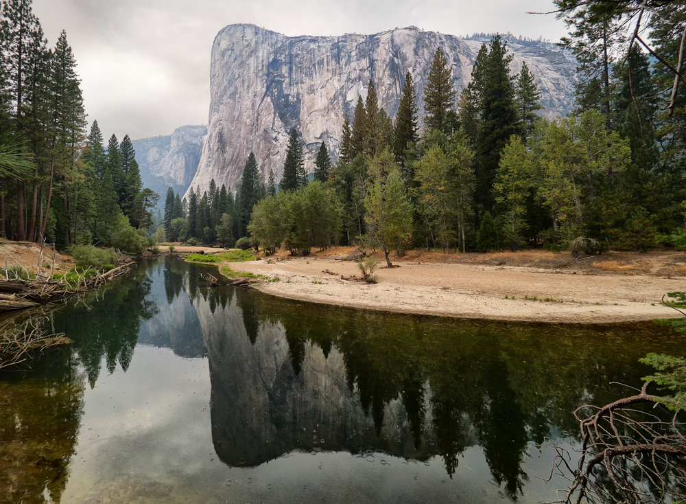 Merced River and El Capitan in the rain final.jpg
