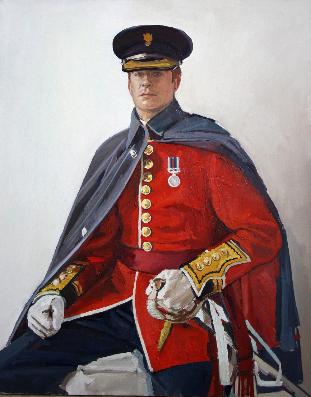 100 x 80cm Captain Alexander Budge, Oil on Canvas