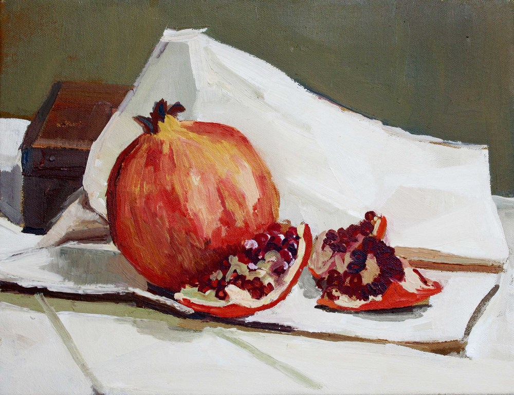 Pomegranate 35 x 27 cm, Oil on canvas