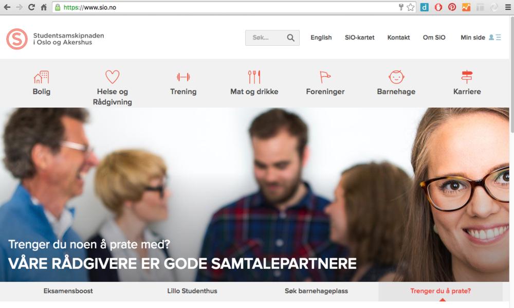 Sio.no med nye nettsider og automatisk rullerende bildekarusell