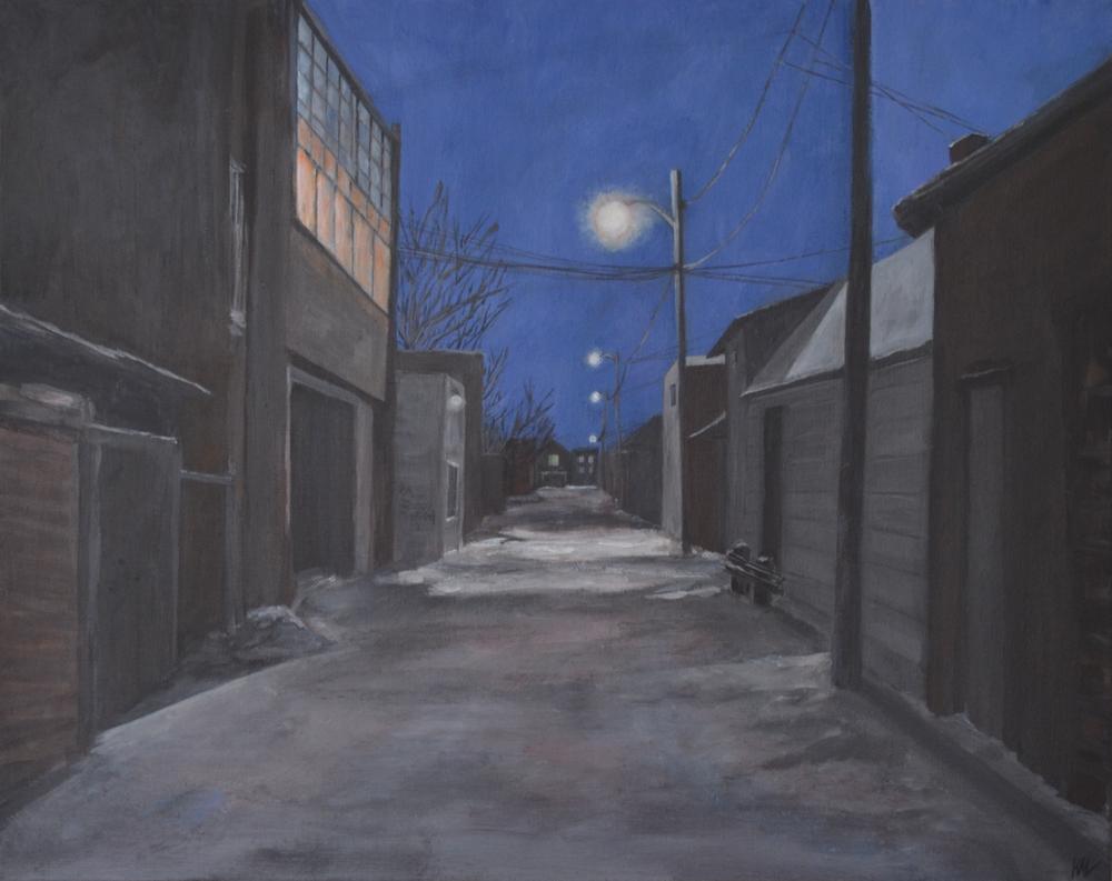 Night Snow Alley