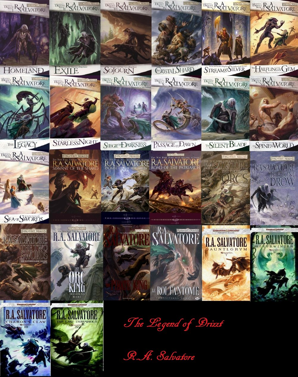 Special thanks to the person who uploaded this graphic to the internet, though there are even more in the Legend of Drizzt!