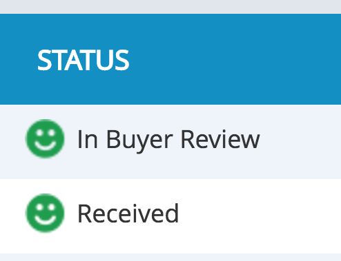 order updates: green and happy is good
