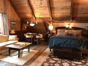 A master bedroom in one of the barn suites.