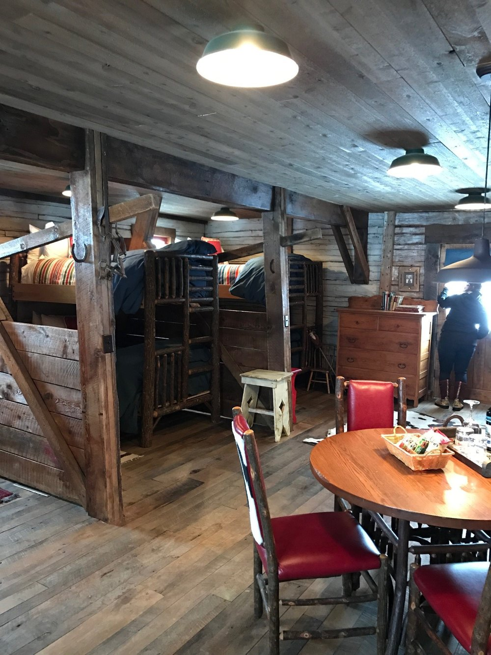 Bunkbeds in the barn - perfect for families or groups!