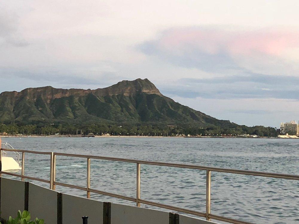 Views of Diamond Head from Halekulani