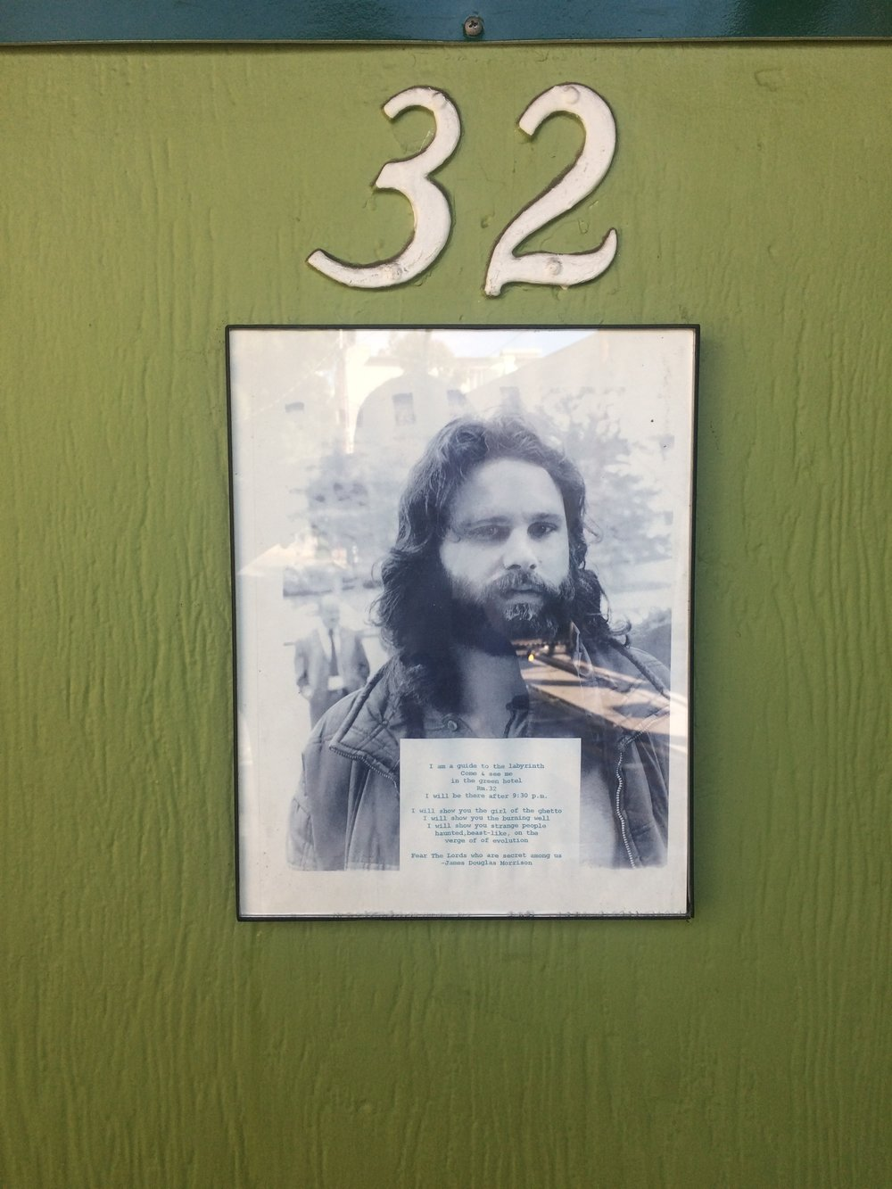 Jim Morrison's Hotel Room Door