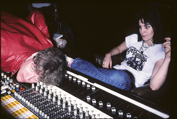 Kim Fowley and Joan Jett