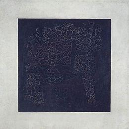Kazimir Malevich, The Black Square, 1915, Tretyakov Gallery, Moscow.