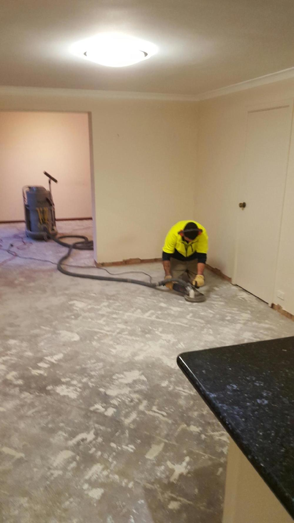 complete floor stripping tile removal