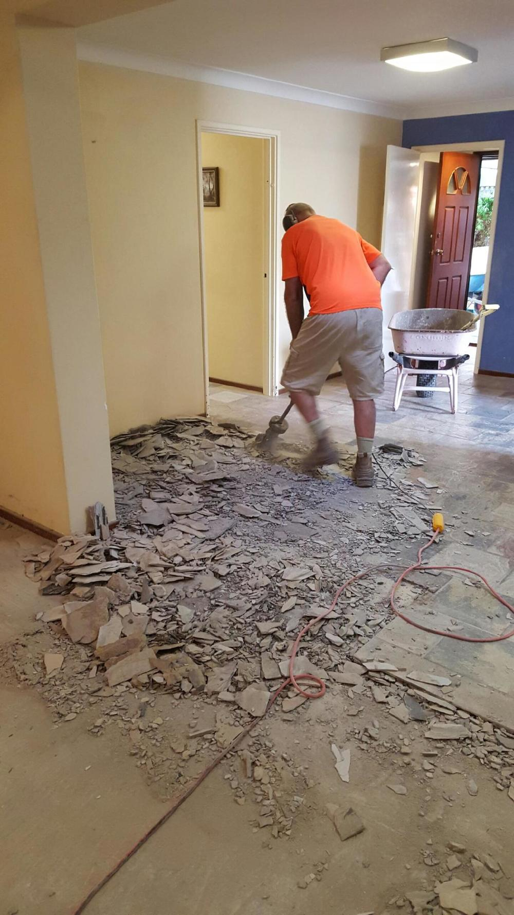 floor removal working in progress