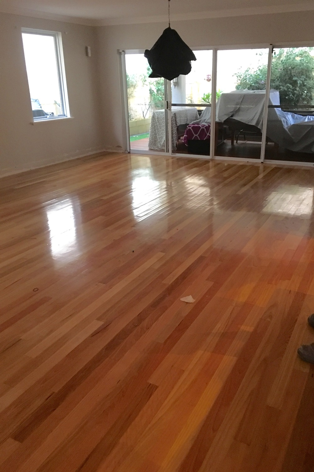timber floor polished