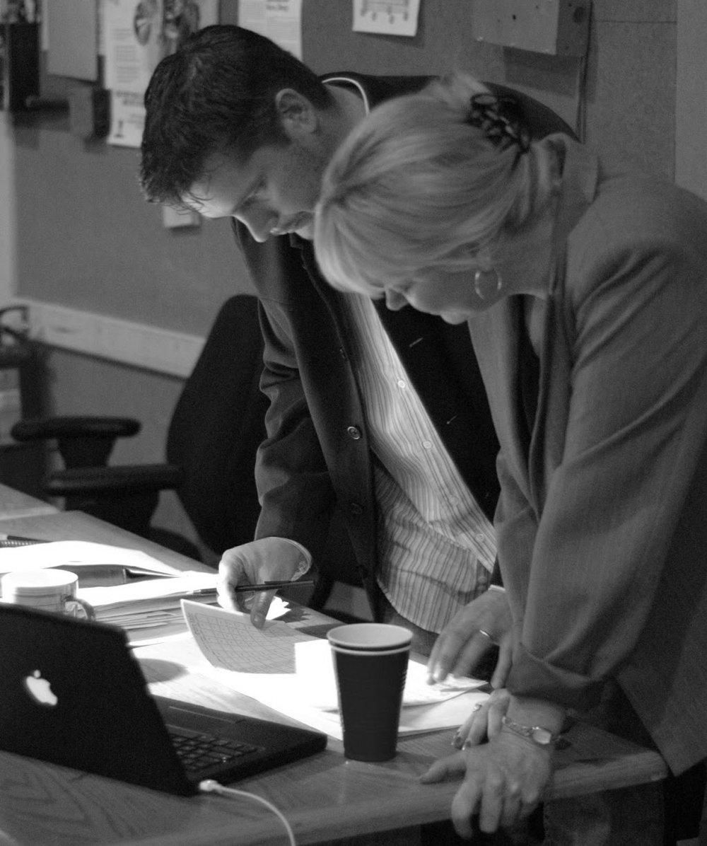 Jasper Randall & Sandy Kipp consulting at Sony.jpg
