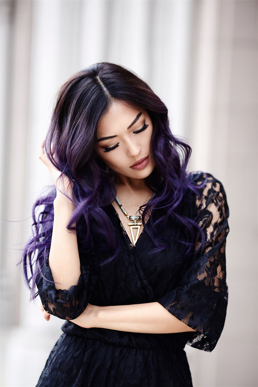 Dark Unicorn My Purple Hair Transformation It S Sang Time