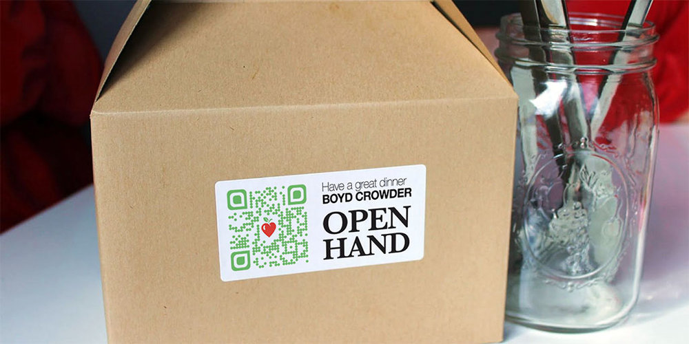On brand with every touchpoint   QR codes that help drivers map to meal recipients also reinforce client relations and reinforce branding.
