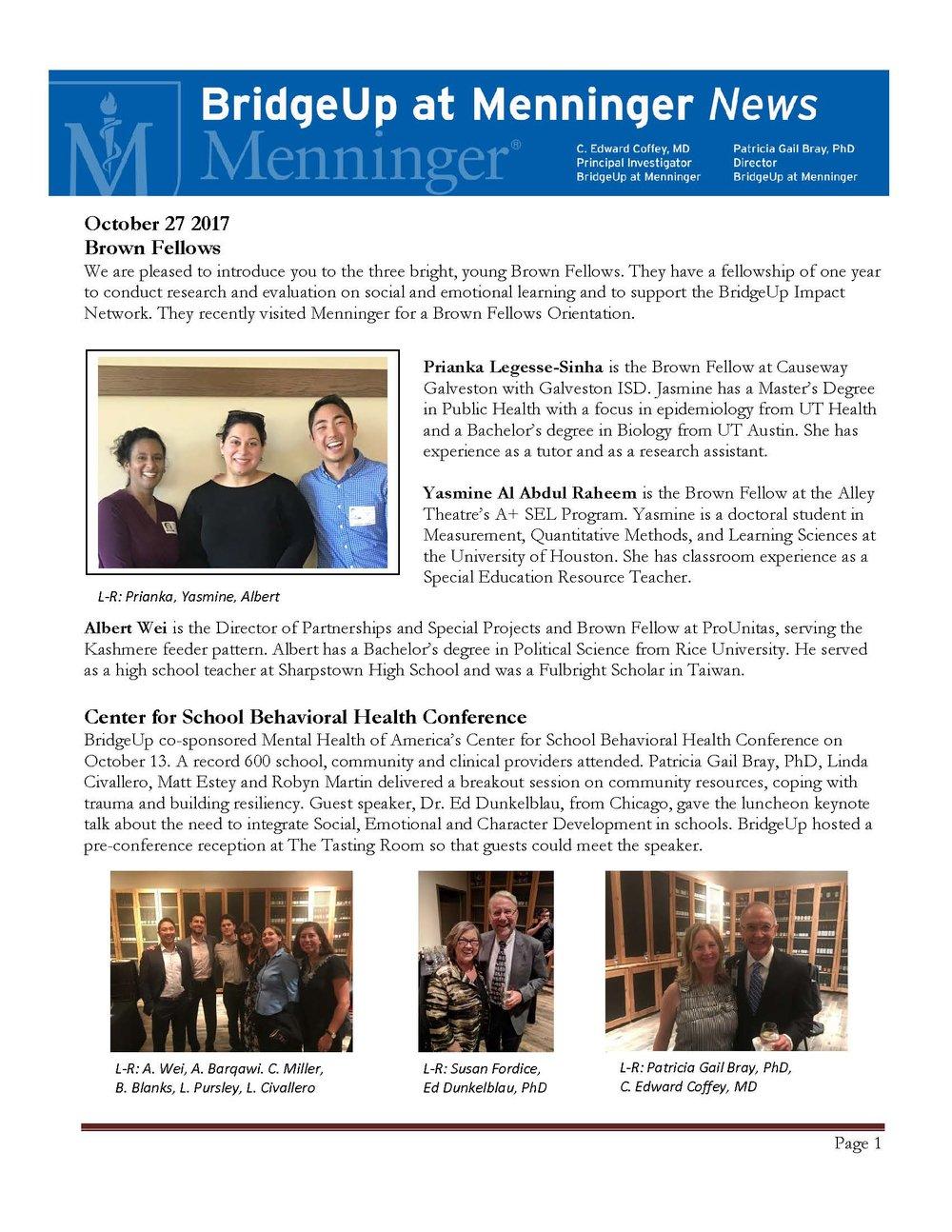 BridgeUp at Menninger Fellows 2017 10 27.jpg