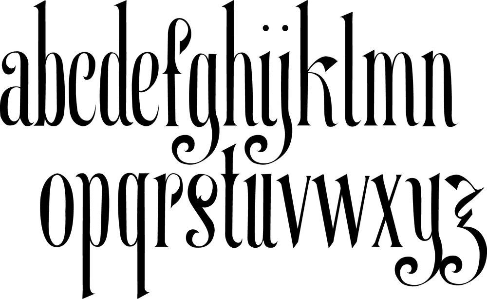The full alphabet of Marguerite.
