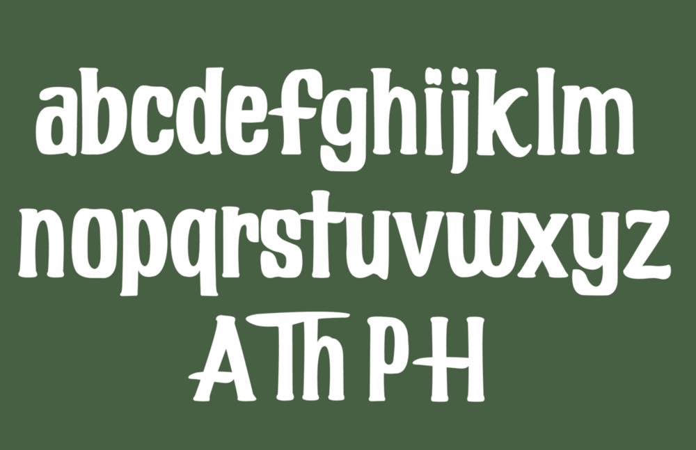 Full alphabet of Harlemite.