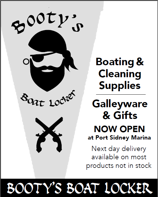778.351.2955 bootys@shaw.ca bootysboatlocker.com Unit 2A - 9835 Seaport Place (Upstairs in the Port Sidney floating building)