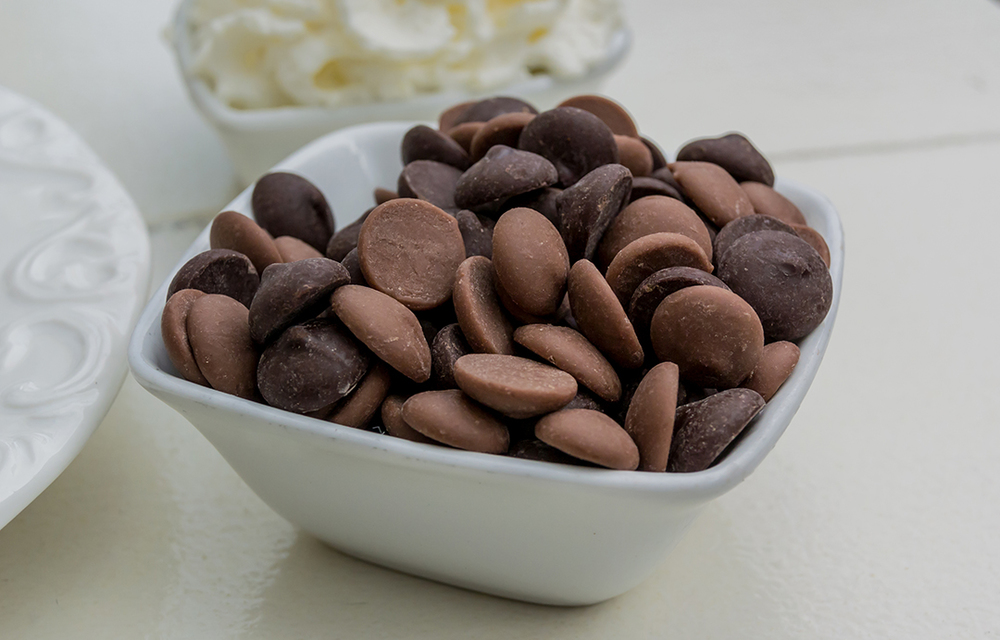 Chocolate Chips in Small Bowl