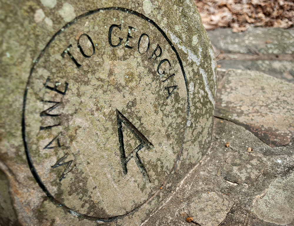 AT Stone Marker, Amicalola State Park