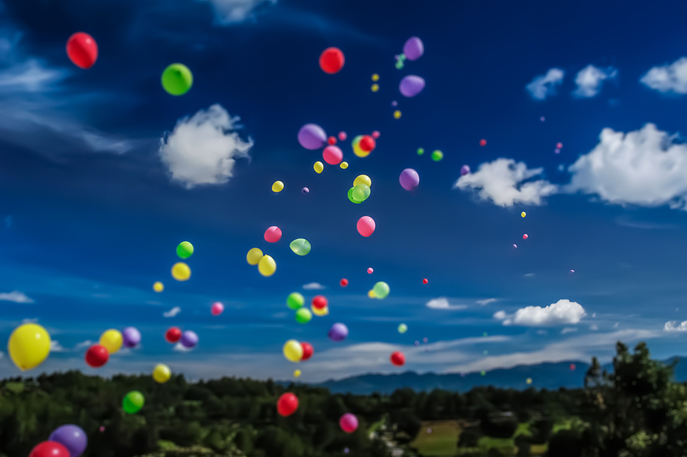Tilt Shift Balloon Release, Guatemala