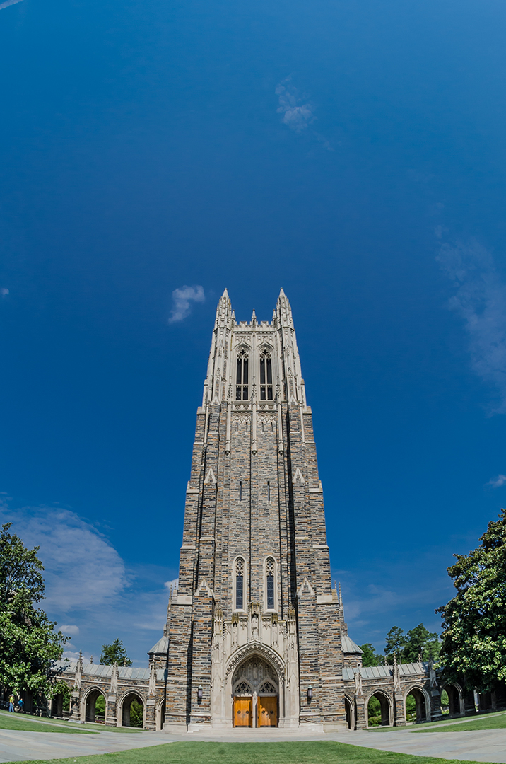 The Gothic Steeple of Duke Chapel, Durham, North Carolina