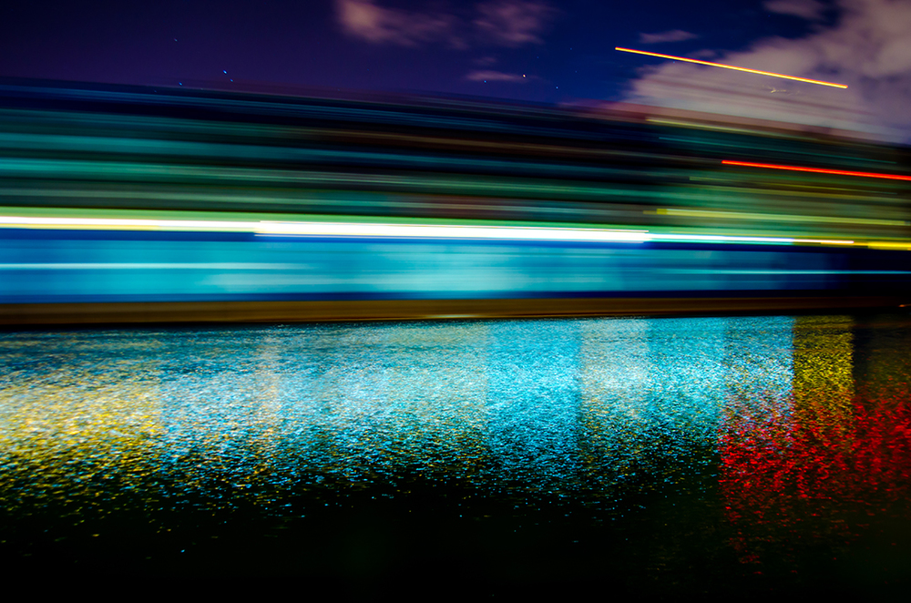 Motion Blur of Container Ship, Savannah, Georgia