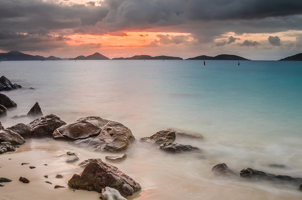 Salomon Beach Sunset, US Virgin Islands National Park