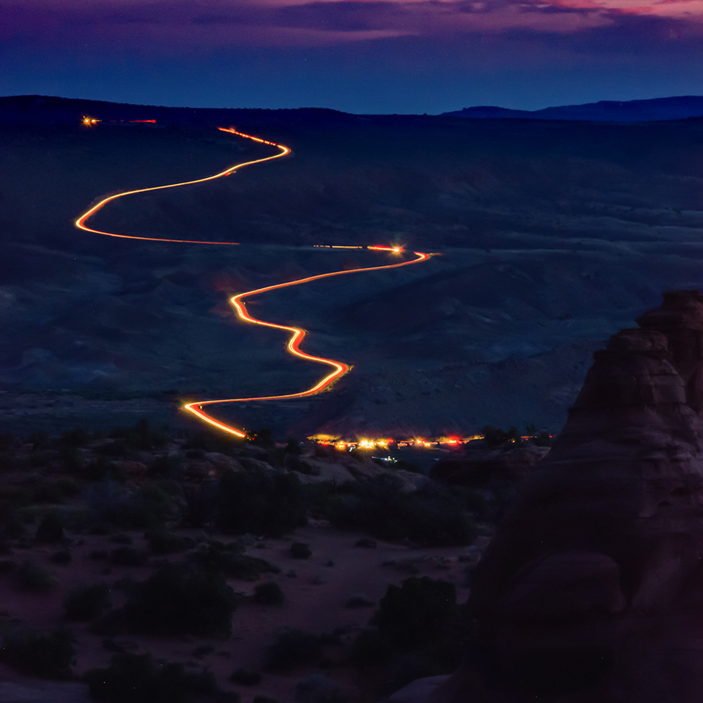 Streaks in the Desert, Arches National Park