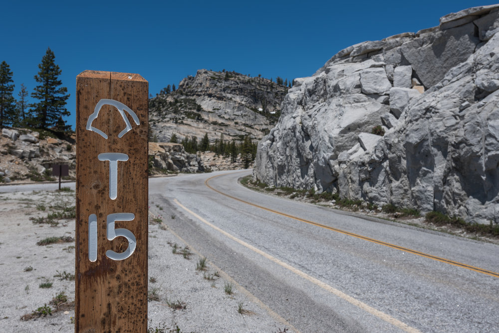 Road Sign on Tioga Pass